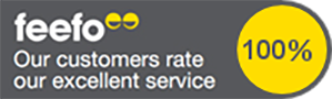 100% Customer Satisfaction on Feefo with Lanyards Direct