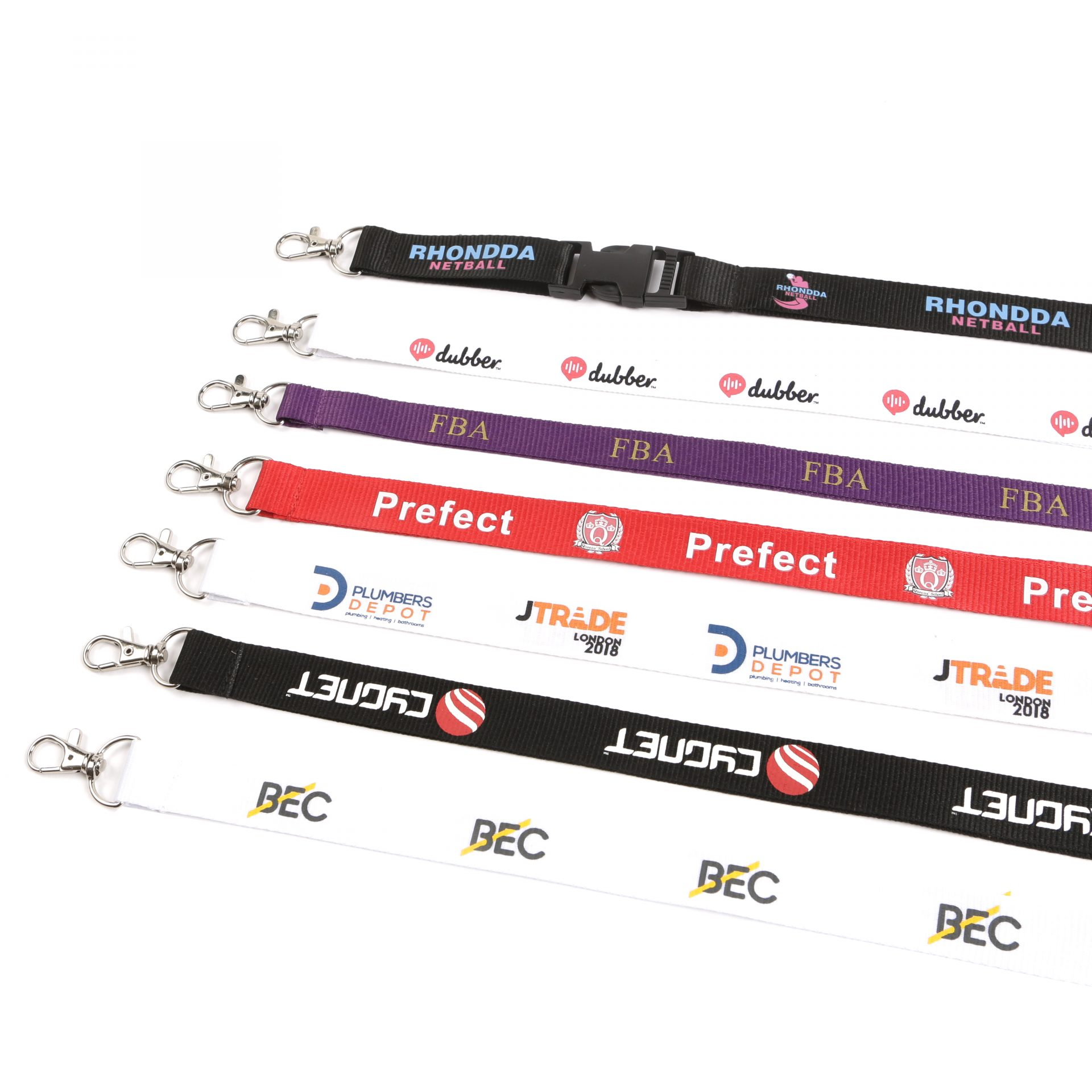 Buy Classic Flat Polyester Printed Lanyards on Lanyards Direct Today!