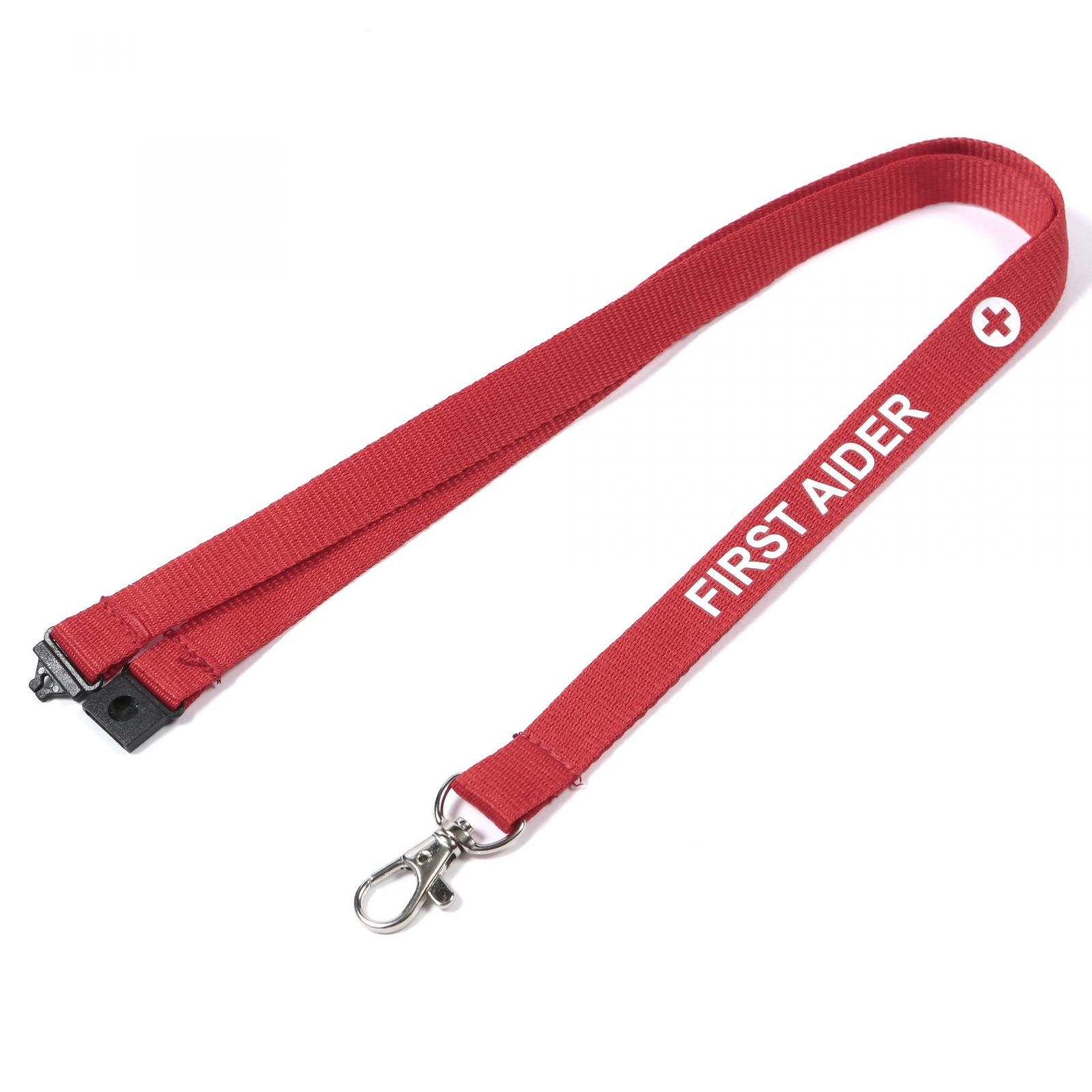 Buy Red First Aider on Lanyards Direct Today!
