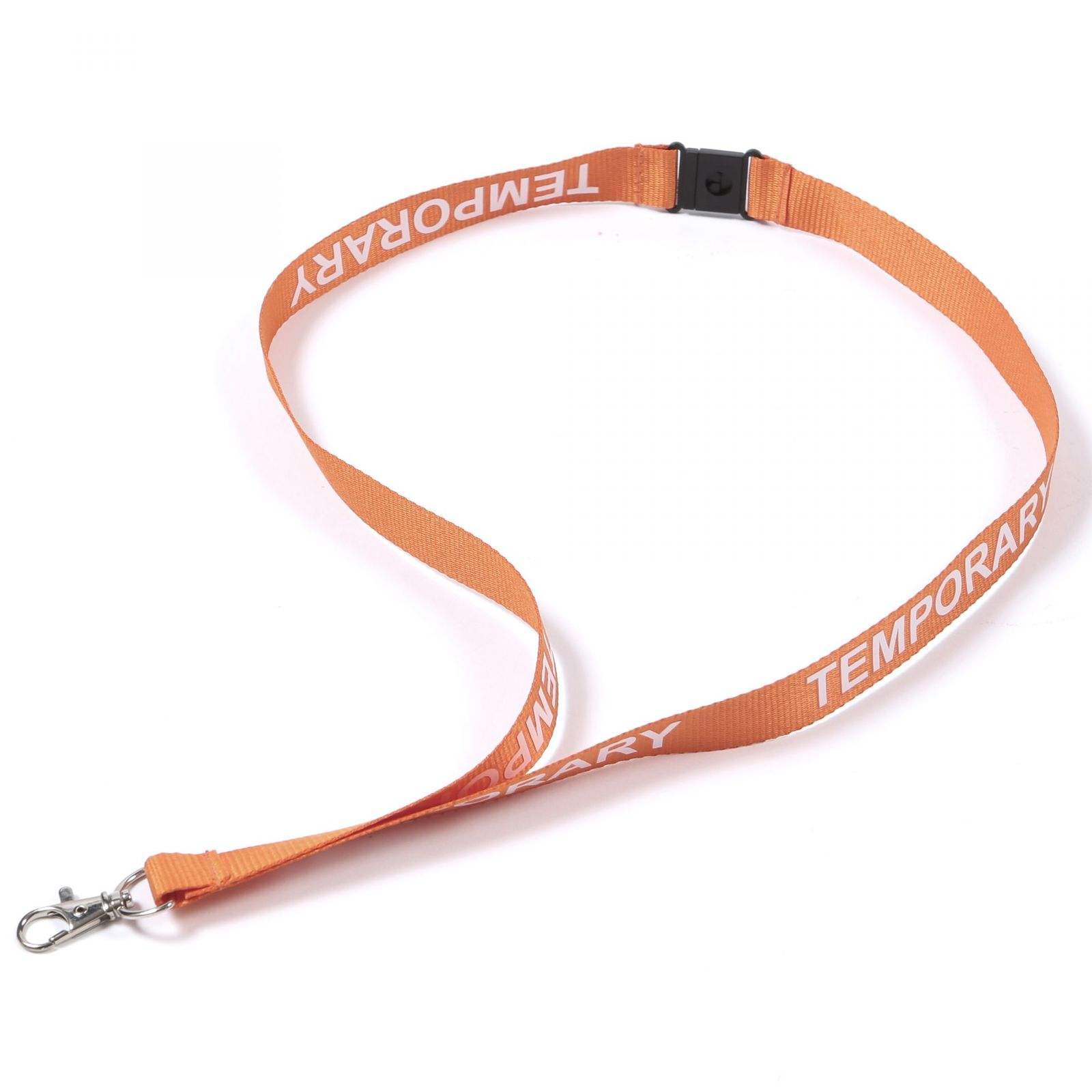 Buy Orange Temporary on Lanyards Direct Today!