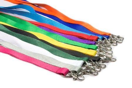 12 plain lanyard colours