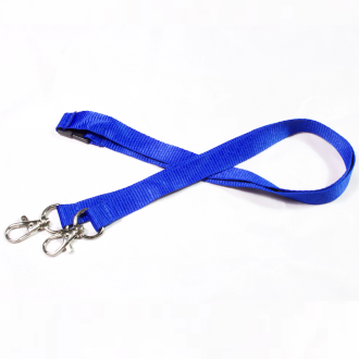15mm Deluxe Double Plain Lanyard