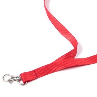 15mm Plain red lanyard