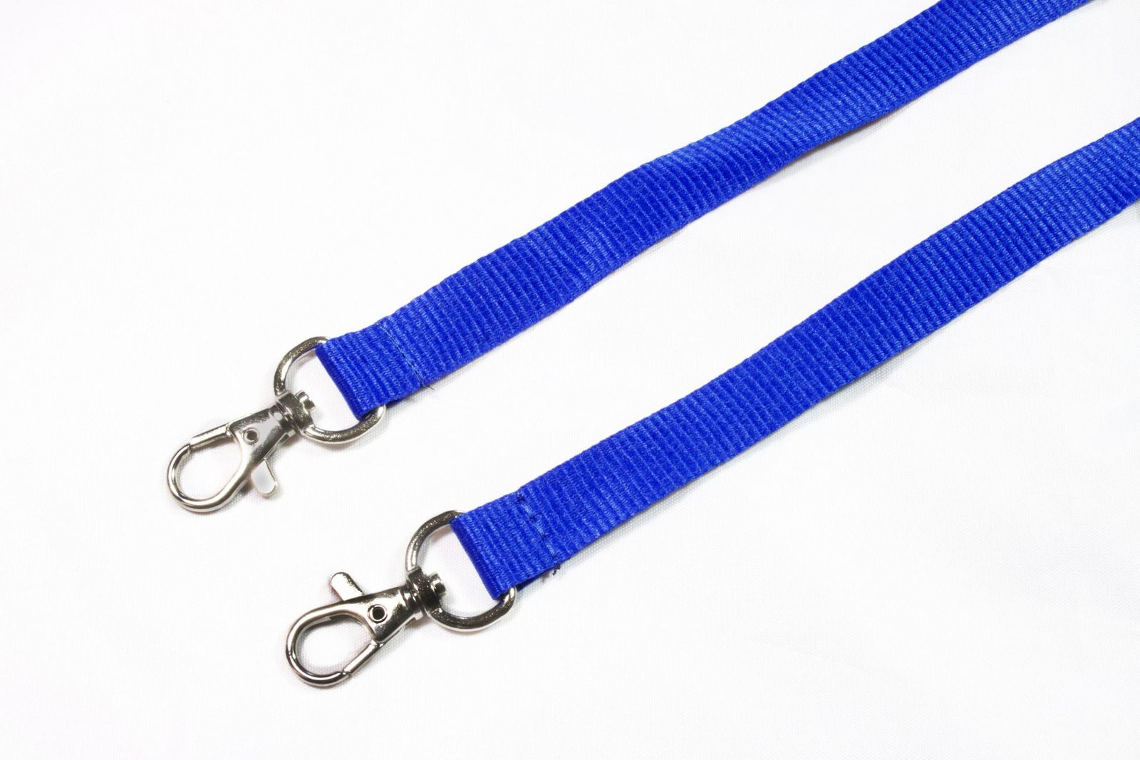 Buy Plain Blue Double Ended Lanyards on Lanyards Direct Today!